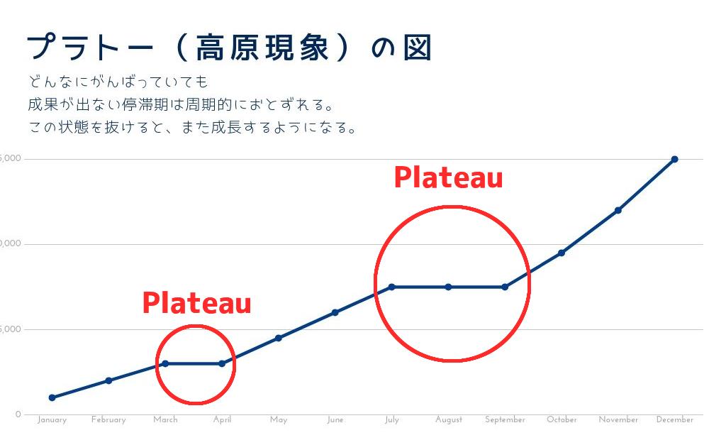 プラトーのグラフです